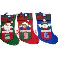供应圣诞节用品 表演舞会挂件 高档卡通圣诞袜小袋子款