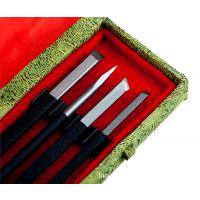 吴昌硕4件套篆刻刀 印章石刻字石刻篆刻工具套装雕刻刀