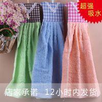 批发擦手巾 可挂式纯棉格印吸水毛巾/吸汗巾/擦手巾