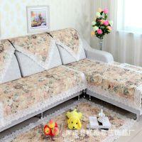 厂家直销 2014款蕾丝沙发垫 沙发坐垫 田园布艺沙发垫