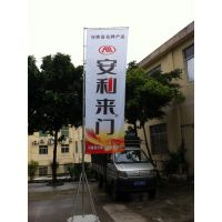三亚户外广告道旗 沙滩 防风优质五米注水伸缩旗杆