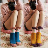 透明玻璃丝花边短袜 女蕾丝花边女袜子水晶丝透明棉布拼接袜子28g