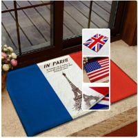 欧式复古英伦英国法国国旗米字旗防滑垫地毯地垫卧室厨房脚垫门垫