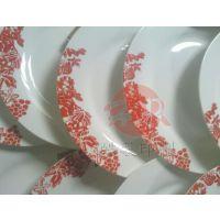 供应上海陶瓷碟子|盘子花纹丝网印刷加工 电话:18601714393