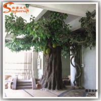 厂家直销造景植物 仿真菠萝蜜树 玻璃钢仿真树 酒店餐厅装饰树