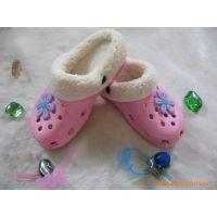 女式拖鞋批发 时尚女平底镂空套脚拖鞋 舒适保暖家居懒人保暖拖鞋