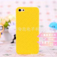 厂家直销 手机套 手机壳 iphone5小编织纹手机壳 手机保护套批发