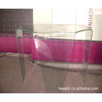 专业加工定制各种u形玻璃制品u形玻璃鱼缸柜台u形玻璃茶几