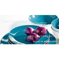 ASA进口欧式中式餐饮用具瓷器陶瓷餐具四件套装碗盘靛蓝色