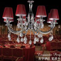 厂家直销 布罩吊灯 布艺铁艺水晶吊灯 餐厅吊灯客厅吊灯卧室灯具