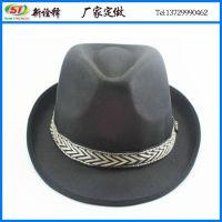 外贸新款出口草帽 男女士户外遮阳草编礼帽 时尚卷边纸辫爵士帽