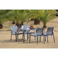 特斯林网布餐桌椅 特拉法尔 户外休闲网布椅 室内室外咖啡厅网布