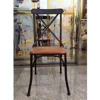 批发铁艺休闲咖啡椅/餐桌实木酒吧椅/美式家具/餐厅实木酒吧椅