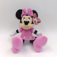 外贸原单~2014美国迪斯尼迪士尼米奇米妮米老鼠 毛绒玩具公仔 粉