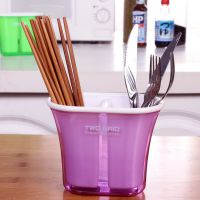 两格沥水筷子筒 创意筷子架 多功能可拆卸收纳盒