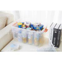 厂家直销透明塑料收纳箱 手提有盖储物箱 杂物整理盒三件套