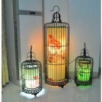 工厂纯手工制作销售 中式仿古铁艺鸟笼灯吊灯 酒店茶楼餐厅灯具
