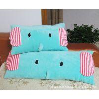 忧伤马戏团 超萌薄荷大象小象毛绒靠垫/抱枕 可拆洗单人枕双人枕