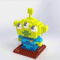 儿童玩具  式迷你钻石小颗粒积木益智拼插怪物学院三眼仔