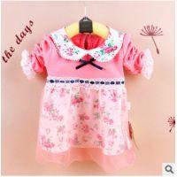 2014秋季新款童T恤 娃娃领打底衫 韩版童装 小贝心2734