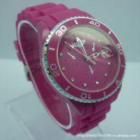 男士转圈手表 镶钻防水手表 中档硅胶手表 出口外贸手表 迪士尼表