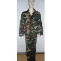 军绿色迷彩服套装 学生军训作训团队服装 野营统一着装 批发定做