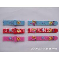 供应厂家定做PVC软胶手表带 儿童手表带 海绵宝宝手表带 广告促销礼品
