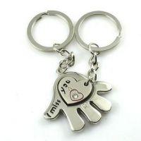 合金真空环保电镀不退色 捧在手心里的爱 情侣金属钥匙扣挂件