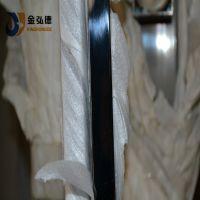 镜面黑钛金扁管 304不锈钢黑钛金扁管
