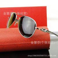 新款男士太阳镜经典大框偏光眼镜驾驶镜镜复古墨镜8200912