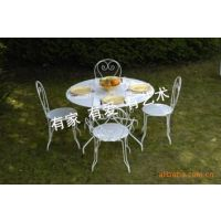 田园 铁艺 餐厅餐桌椅 成套桌椅 Iron furniture 户外休闲桌椅