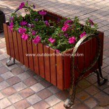 园林套椅 户外实木桌椅 日照广场塑木主题一桌四椅 户外木制餐椅定做