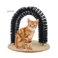 速卖通货源 宠物用品猫猫美容拱门型蹭毛器猫玩具  猫抓痒毛刷