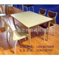 深圳厂家定做饭店餐厅桌椅  防火板四人位餐桌 家用餐桌椅组合