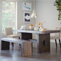 法式复古别墅餐桌椅组合 会所餐桌椅实木新西兰松木餐桌家具定制
