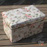 【厂家直批】优质无纺布 可折叠 储物凳/收纳凳 长方形 田园风格