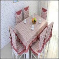 格子田园桌布布艺台布桌旗餐桌布椅垫椅套套装餐椅套椅子套 批发