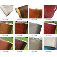 供应专业生产自粘木纹膜PVC木纹装饰贴膜木纹同步纹膜