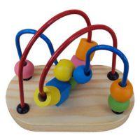 迷你轨道迷宫 小串珠 小绕珠 益智玩具 动物绕珠 木制玩具