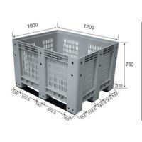 供应1210大型塑料卡板箱批发