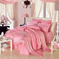 梦巴厘家纺-粉色玉色婚庆床上用品,提花绣花结婚十件套多件套
