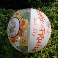 花色透明沙滩球,冲气沙滩球  充气球沙滩球