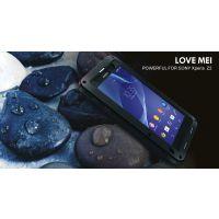 正品love mei/索尼Z2三防金属手机保护壳/防水防摔防尘金属手机套