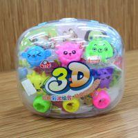 奇妙多8118 3D立体动物彩泥套装玩具趣味彩色橡皮泥 12色彩泥批发