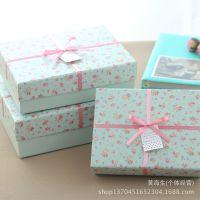H013-C215小清新杂货田园碎花zakka创意方形纸盒礼物礼品盒3件套