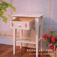 田园家具公司促销田园风格木制抽屉式收纳桌 学习收纳桌