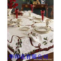 厂家直销高品质现代简约餐桌布 独幅大版印花桌布  专业桌布厂家
