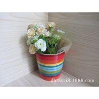 批发库存陶瓷工艺品、简约花盆、特色室内花盆、zakka手绘花盆