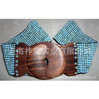 [厂家直销]珠绣腰带 织珠腰带 珠珠松紧腰带 手工编织珠带 腰饰
