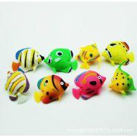 鱼缸装饰用品 漂浮热带鱼 彩色鱼塑料 鱼装饰鱼/条